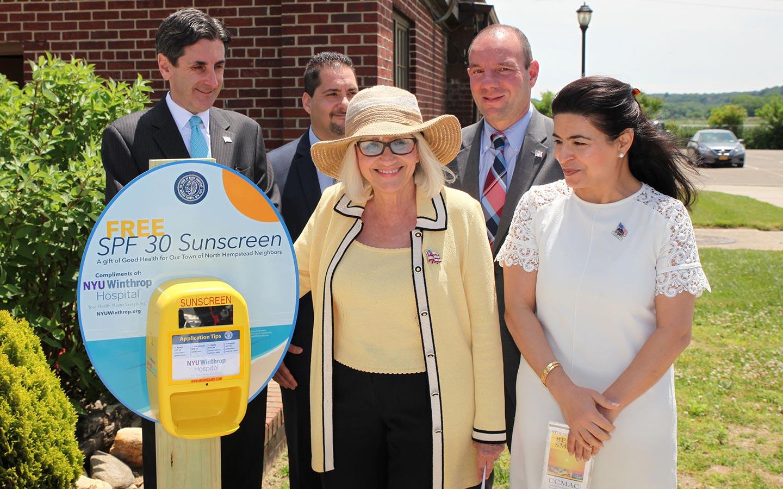 NYU Winthrop initiative provides free sunscreen
