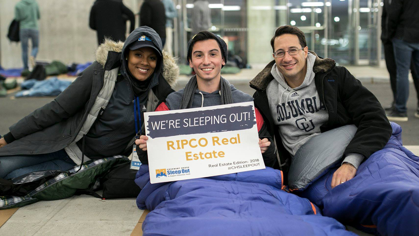 RIPCO sleeps out on sidewalk for homeless youth