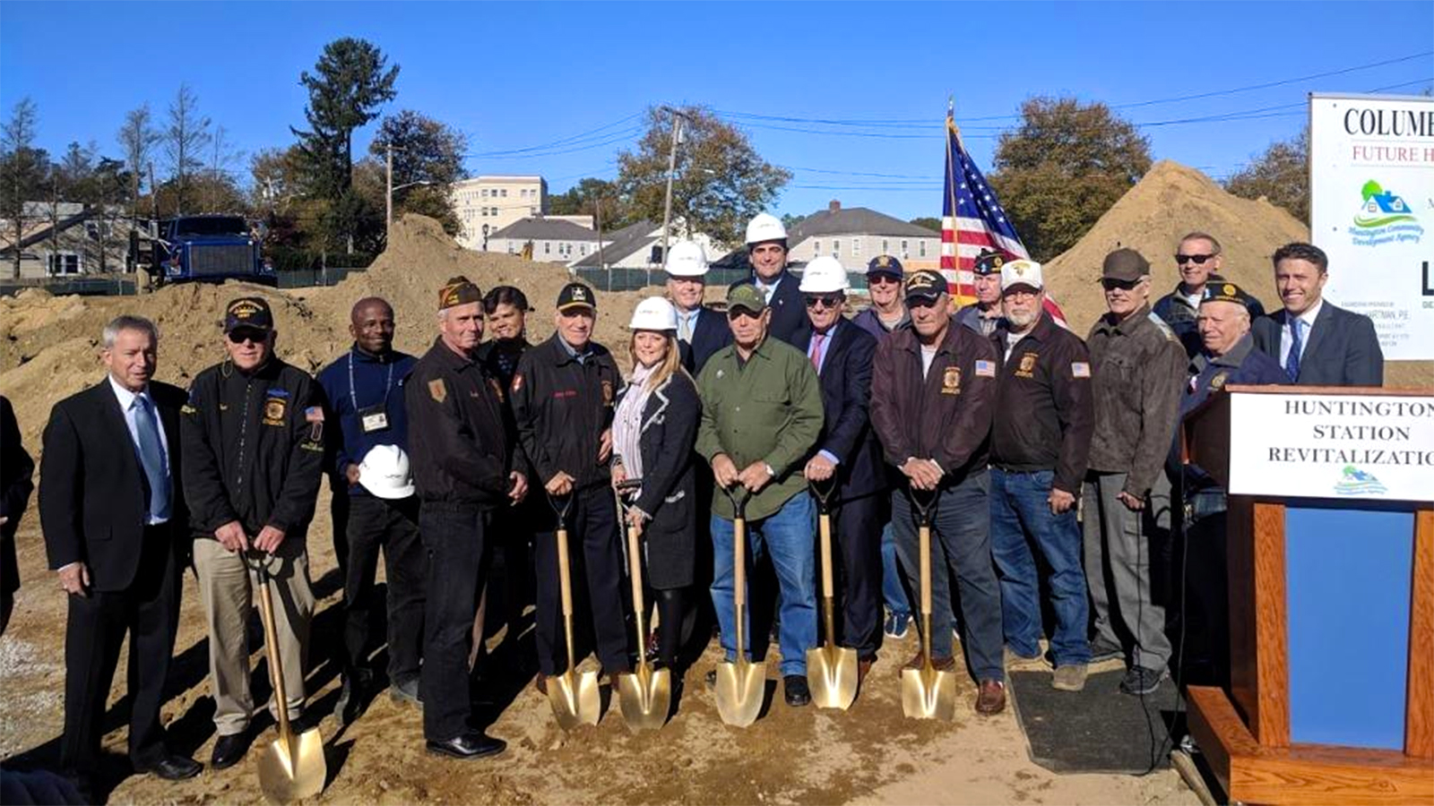 Affordable housing project for veterans breaks ground in Huntington