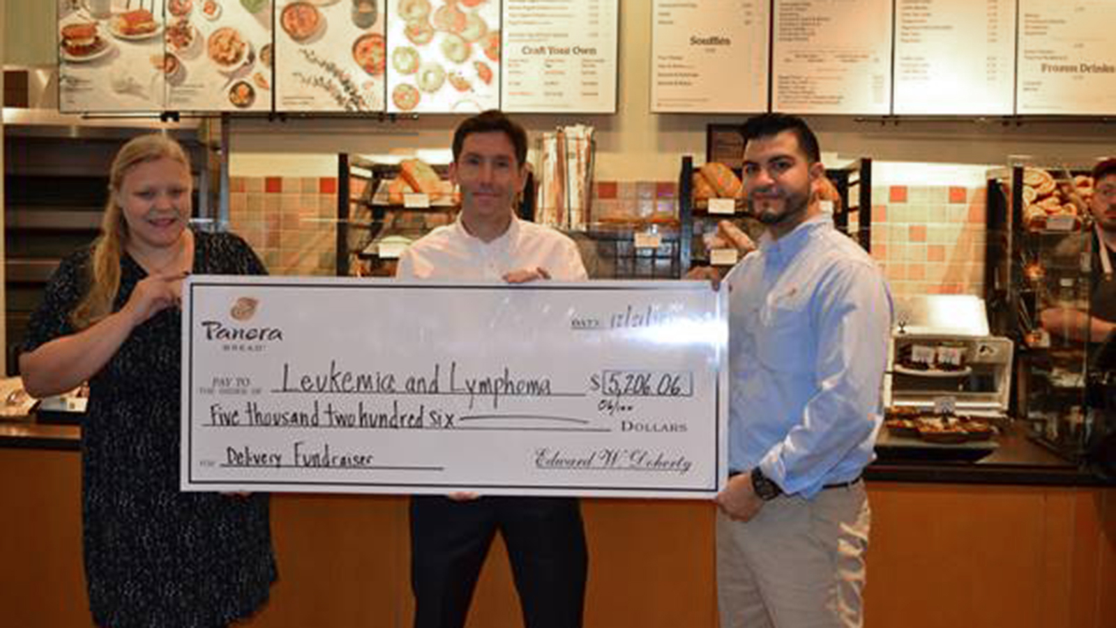 Panera Bread raises over $5,000 for Leukemia and Lymphoma Society