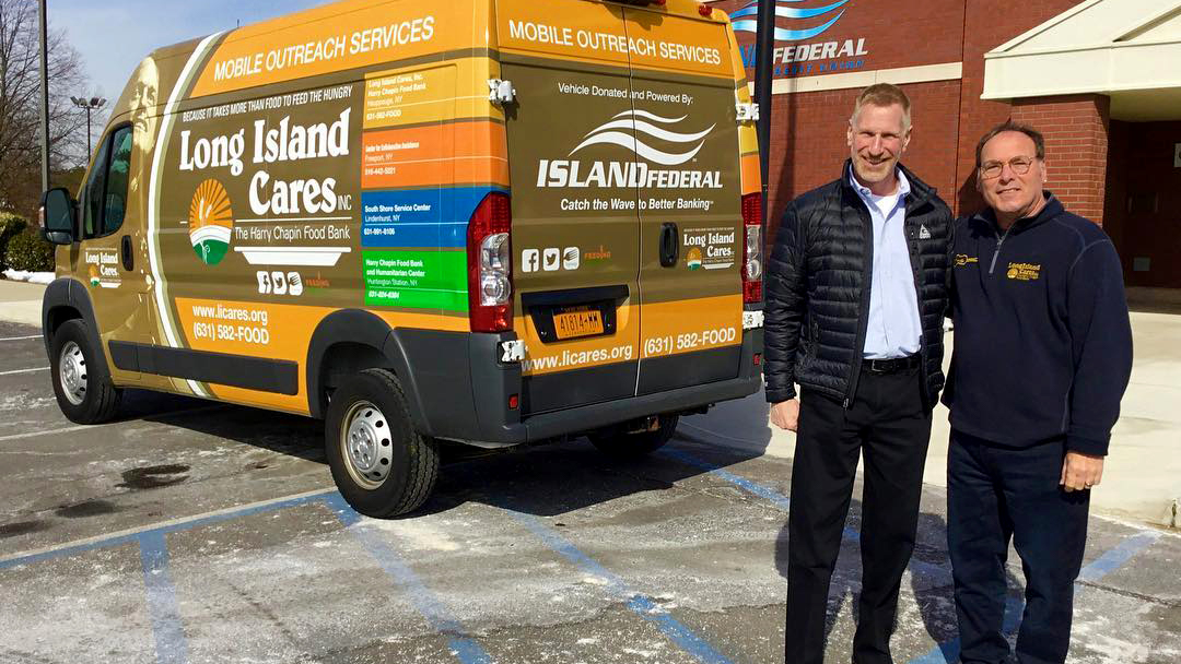 Island Federal donates truck to Long Island Cares