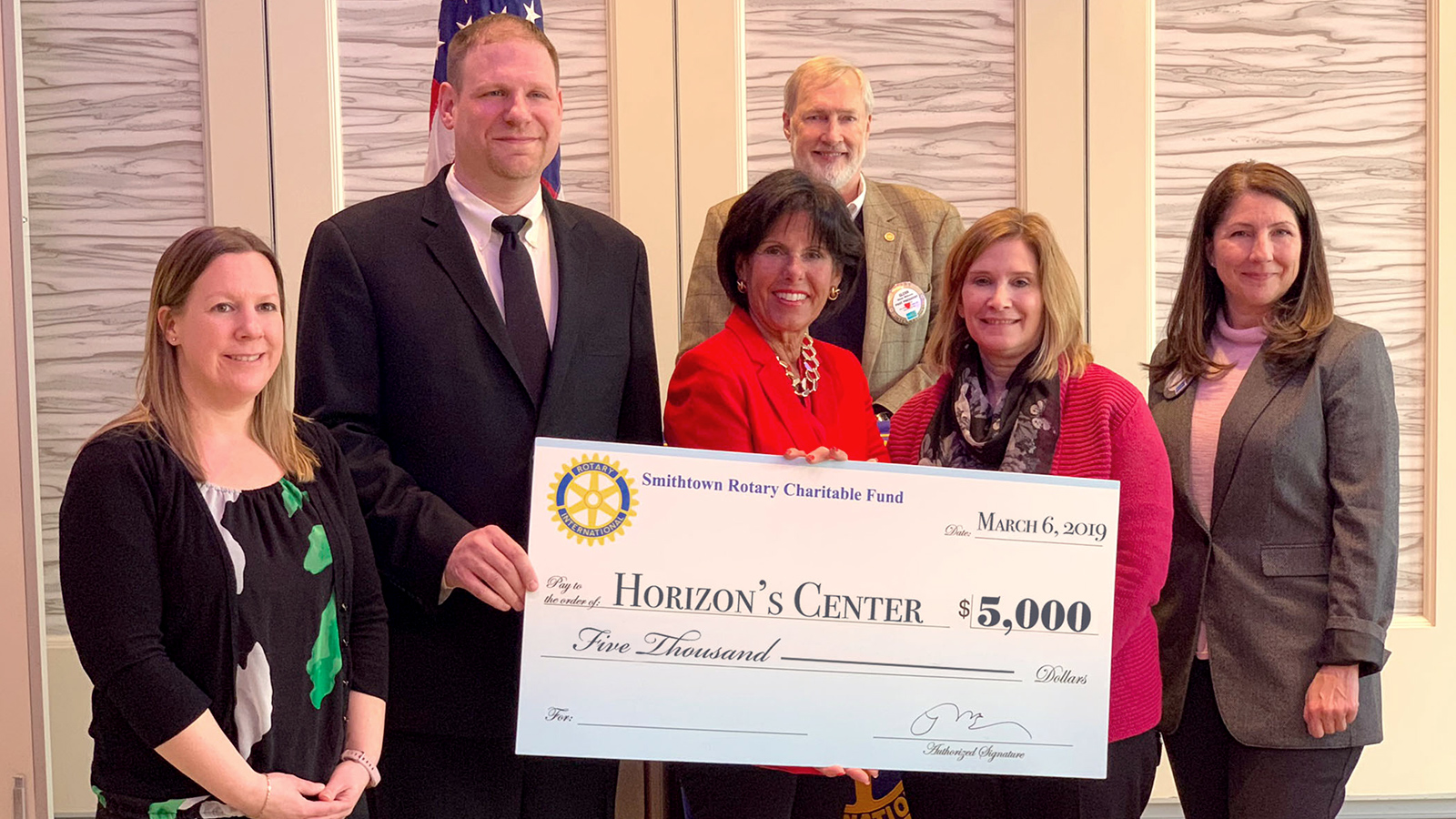 Rotary Club donates $5K to Horizons Center