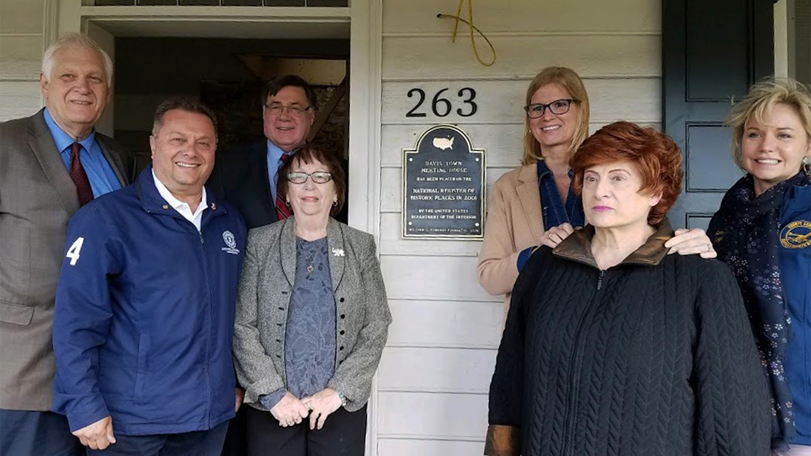 New plaque commemorates Davis Town Meeting House