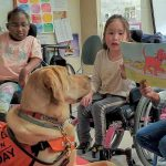Yellow lab joins staff at Henry Viscardi School