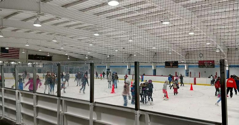 Free skating at Winter Wonderland event