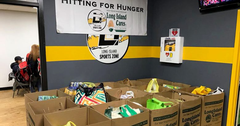 Long Island Sports Zone donates a ton of food