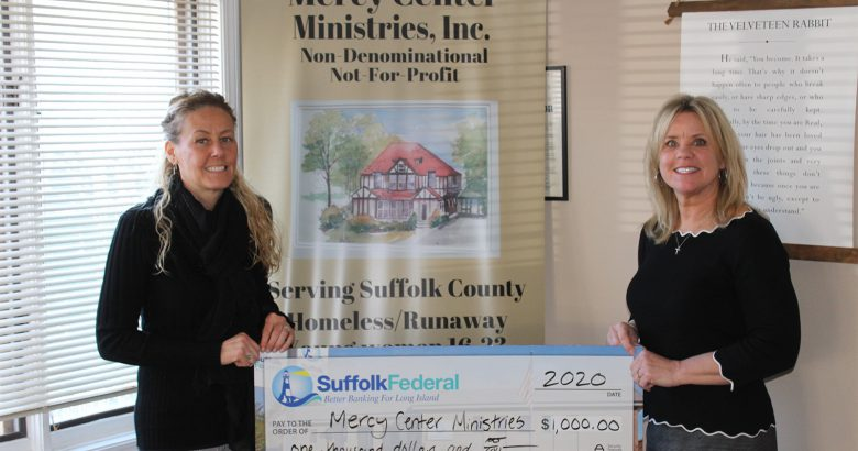 Mercy Center Ministries gets Suffolk Federal support