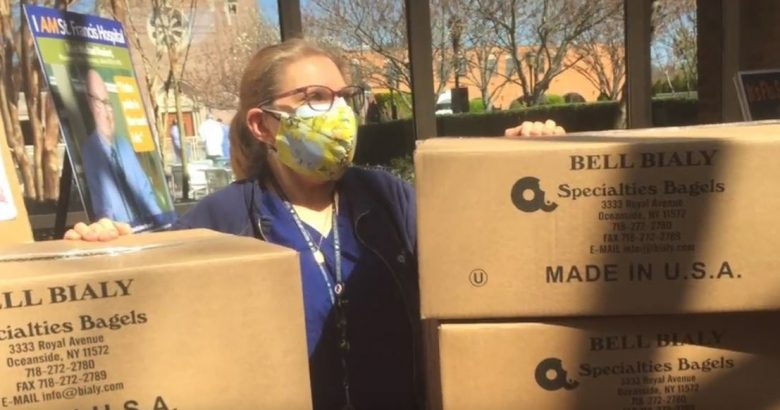Nassau firms supplying water and bagels to hospital staffers