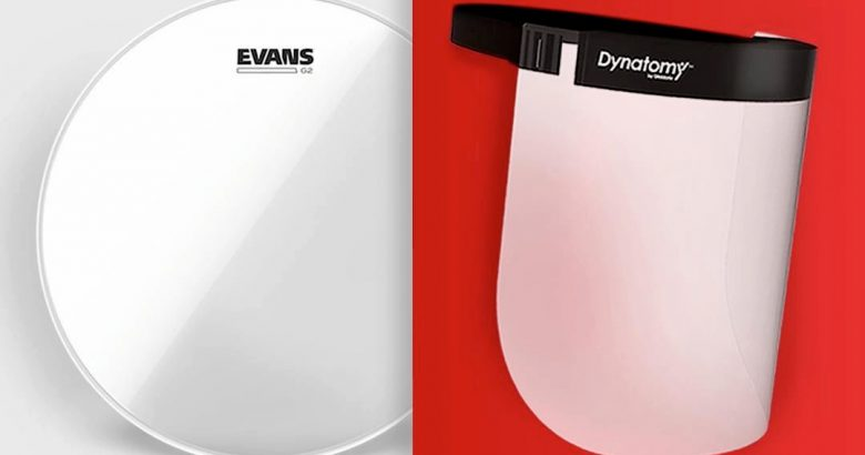 D'Addario pivots from drumheads to face shields