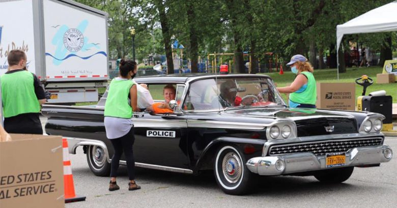 'Cruise Thru' event collects 8 tons of food