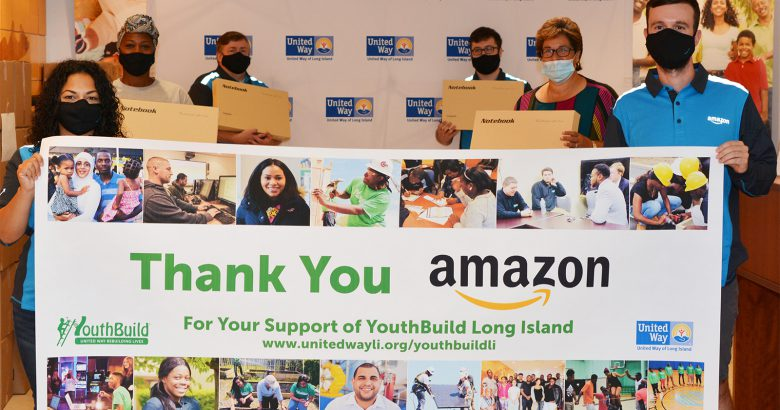 Amazon donates laptops and backpacks for Shirley opening