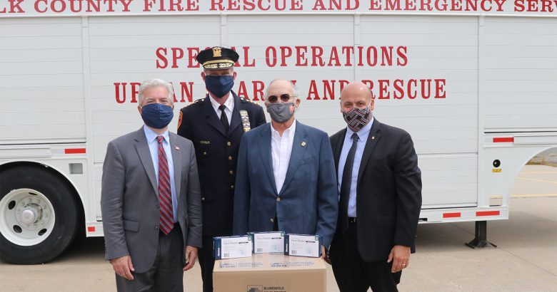Developer donates masks to Suffolk first responders