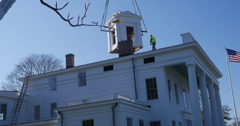 Cupola installed atop historic Bridgehampton home
