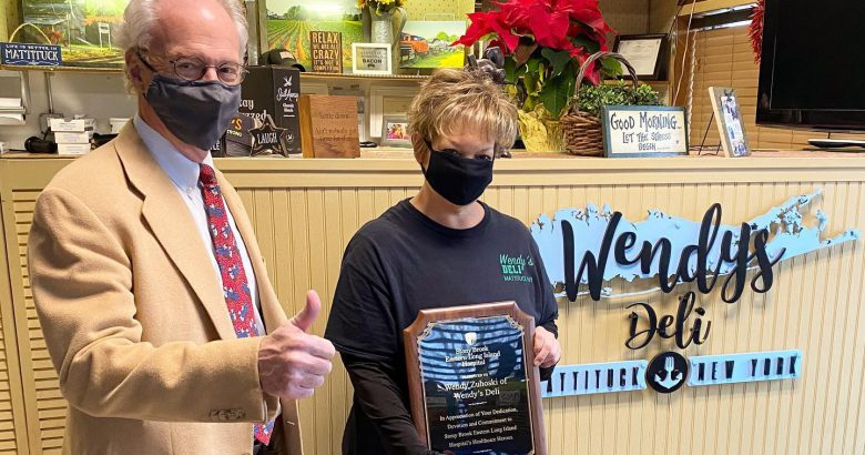 Deli owner honored for meal donations