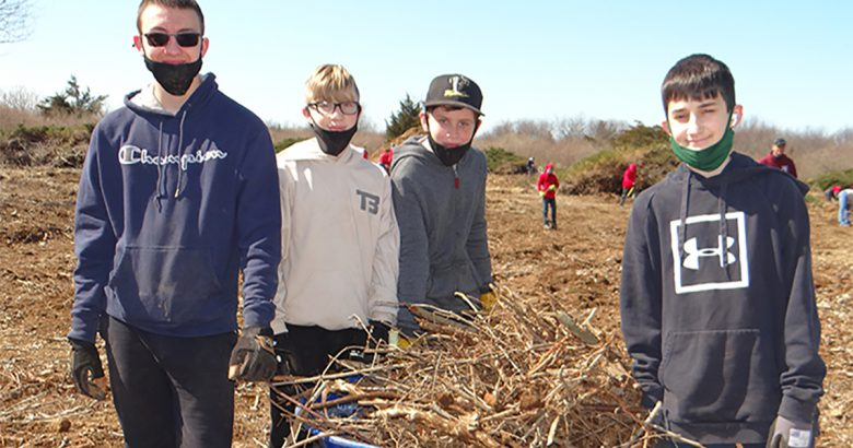 Scouts help transform Warrior Ranch in Calverton