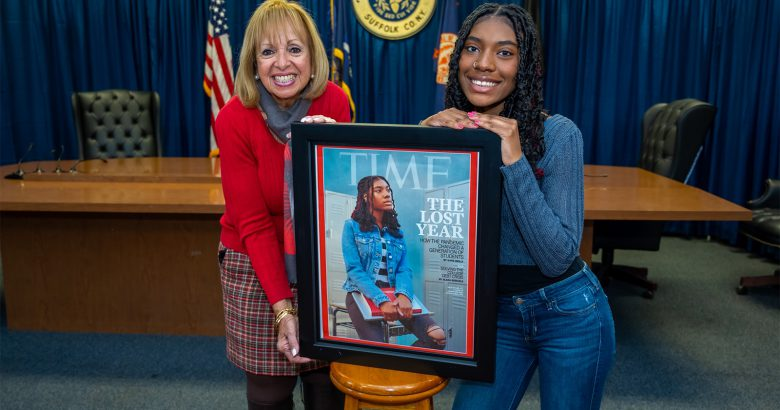 Central Islip teen honored for Time magazine cover