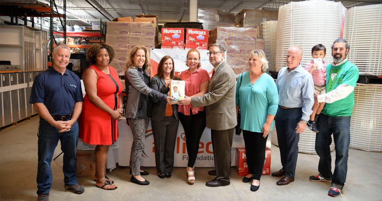 Foundation celebrates donations of 1 million diapers