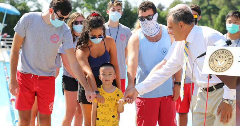 Lifeguards honored for rescue of drowning child